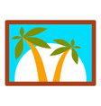 island wall picture icon flat style vector image