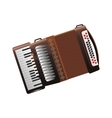Isolated accordion instrument design vector image