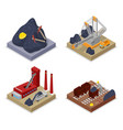 isometric coal industry workers in mine vector image