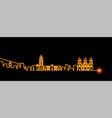 la paz light streak skyline vector image vector image
