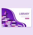 landing page template library online a large vector image