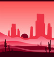 landscape of wild western desert with rocky vector image vector image