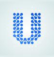 letter u logo halftone icon vector image vector image