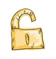 lock draw design vector image vector image