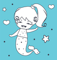 Mermaid Coloring book vector image vector image