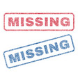 missing textile stamps vector image vector image