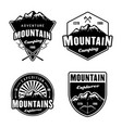 mountains and outdoor adventure camping and vector image vector image