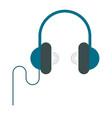 music headphones isolated vector image