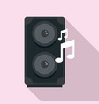 music speaker icon flat style vector image vector image