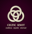 paper celtic knot symbol design template vector image vector image