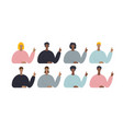 people character pointing fingers set vector image