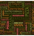 pizza words tags seamless pattern vector image vector image