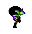 portrait african woman bandana shenbolen ankara vector image vector image