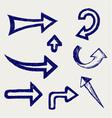 Retro arrows and pointers vector image vector image