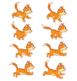 Running Cat Animation Sprite vector image vector image
