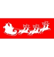 Santa Claus silhouette riding a sleigh with deers vector image vector image