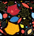 seamless autumn pattern leaves vector image vector image