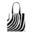 Shopping bag with zebra print for your design vector image vector image