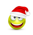 smileyemoticon green emoji face with emotions vector image