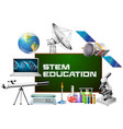 stem education on board and different devices vector image