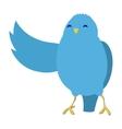 Talking blue bird vector image vector image