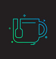 tea icon design vector image