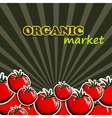 tomatoes organic food concept vector image vector image