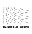 tracking human footprints to track walk paths vector image vector image