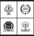 trophy and awards collection vector image vector image