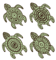 Turtles set vector image vector image