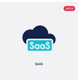 two color saas icon from general concept isolated vector image vector image