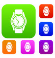 watch set collection vector image vector image