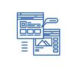 webpage blogging line icon concept webpage vector image