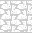 white rabbit seamless pattern hare ornament bunny vector image vector image