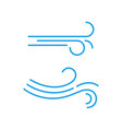 wind line icon breeze air logo fart blow vector image