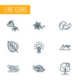 world icons line style set with river innovation vector image vector image