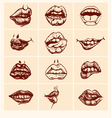 Set of sexy woman lips vector image