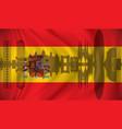 flag of spain with barcelona skyline vector image