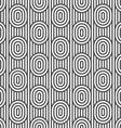 Monochrome striped seamless pattern with ovals vector image
