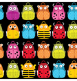 Seamless background with kids school backpack vector image