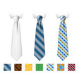 customizable neckties templates with vector image