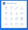 16 wash icons vector image vector image