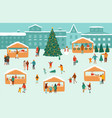 a christmas market or vector image