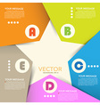 Abstract origami banner background eps10 vector image vector image
