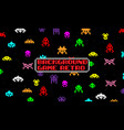 background game with space aliens in retro style vector image vector image