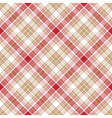 Beige red white fabric seamless pattern vector image vector image
