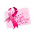 Breast cancer awareness ribbon vector image