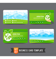 Business Card template set 007 Ecology concept vector image vector image
