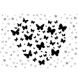butterfly black vector image vector image