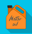 can of engine oilcar single icon in flat style vector image